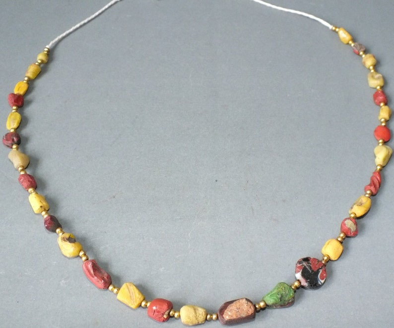 Sale 5 Strands 2000 years Old Ancient Roman glass Original Glass Rare Beads Strand Necklace From Afghanistan For making ancient jewelry