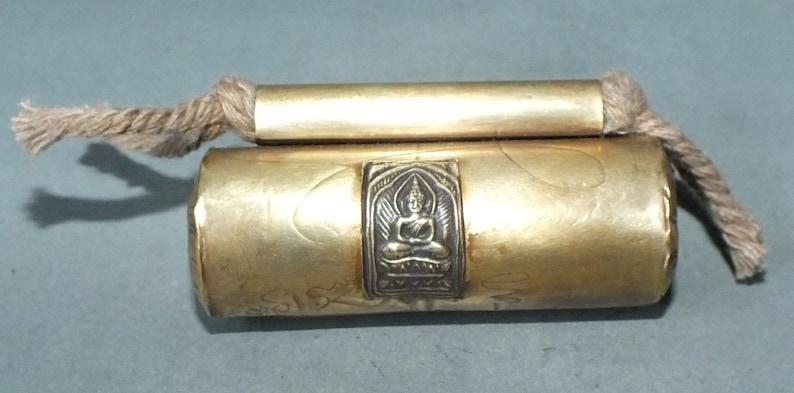 Buddhist Brass Takrud Talisman Amulet Charm Thailand FREE SHIPPING