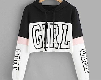 3a37a6ffafa91 Girl Power Cute Nice Pretty crop top Hoodie high quality fashion summer  warm winter trendy season shirt 2019