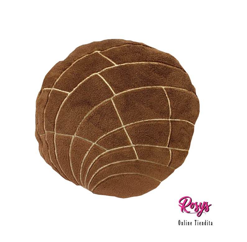 Chocolate Concha Pillow Concha Pillow