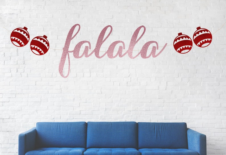 Falala Banner Holiday Party Christmas Banner Holiday Banner Christmas Party Christmas Theme Event Falalala
