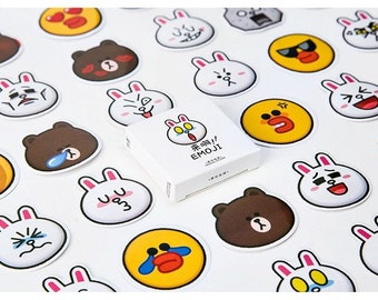4aa56e01b6a line friends Brown Cony Sally sticker pack 45pcs Green scrapbooking planner  MB