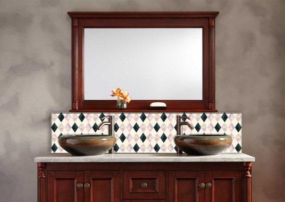 Mosaic Tile, DIY Kitchen Backsplash, Tile, Kitchen Sink Backsplash, Easy  Bathroom Backsplash, Bathroom Tile, Backsplash Tile, Kitchen Decor