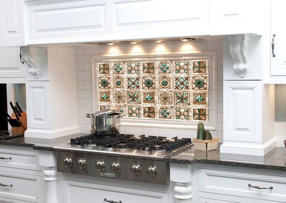 Mosaic Plague Tile Diy Kitchen Backsplash Tile Kitchen Sink Etsy