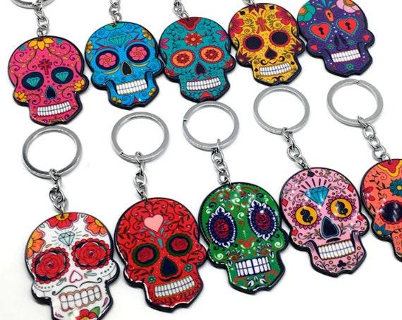 Sugar Skull Resin Keychain