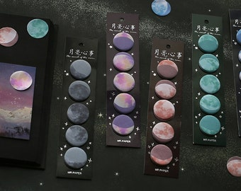 Moon Phases Sticky Note Tabs Set
