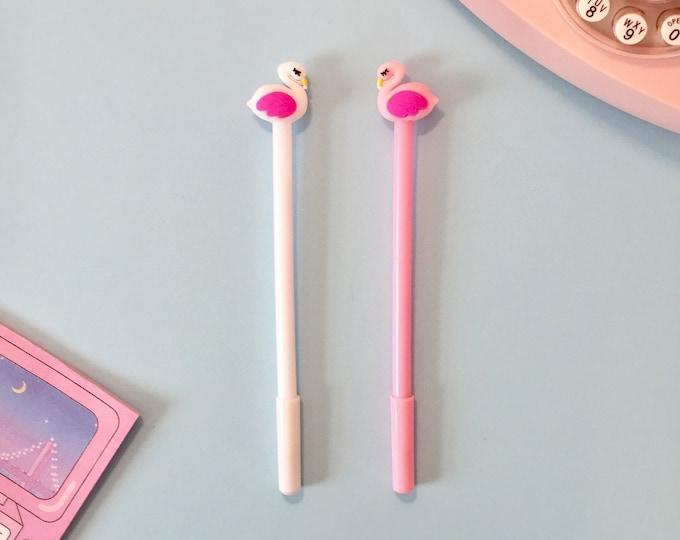 Pink Flamingo Gel Ink Pens - Cute Animal Novelty Pens