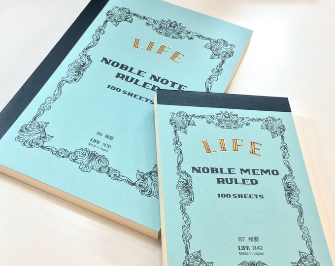 Noble Blue Series Journals by Life - B6 Note - B7 Memo - 100 Ruled / Lined Pages