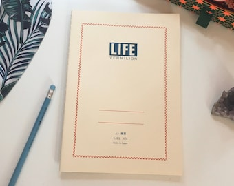 Life Vermilion Notebook - A5 A6 Ruled Journal