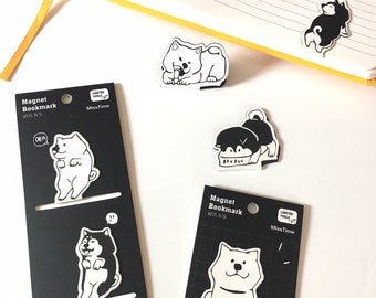 2pc Pup Magnet Bookmarks