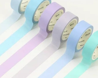 Solid Bright Washi Tape in Pastel Colors