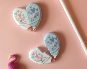Heart Shaped Correction Tape - 2 Pc Set