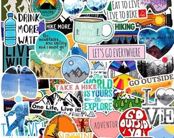 Take A Hike Sticker Pack - Travel Outdoors Adventure Stickers