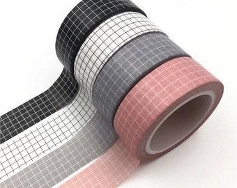 Classic Grid Washi Tape - 1.5 cm