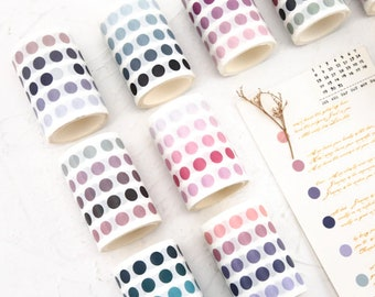 Color Dot Washi Tape Circles