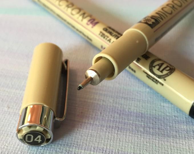 Sakura Pigma Micron Pen - Premium Writing Pens Archival Ink - 005 01 02 03 04 05 08 1 Brush - For Fine Medium or Bold Lines