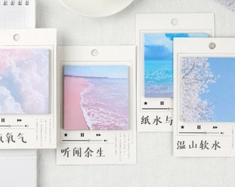 Dream Beach Sticky Notes - 30pcs - Self Adhesive Memo Notepads