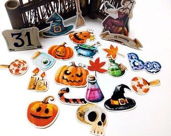 22pc Halloween Sticker Set