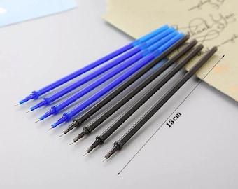 Erasable Ink Pen Refills - 13cm - Blue or Black Ink