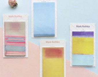 Abstract Art Sticky Notes - Colorful Unique Rothko Artwork Memo Pads