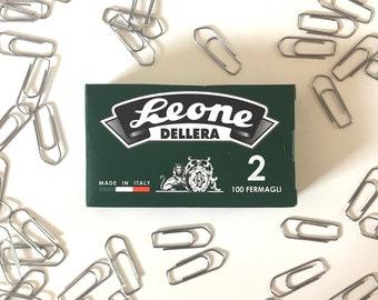 Leone Dellera Zinc Paper Clips - 100pcs - No. 2