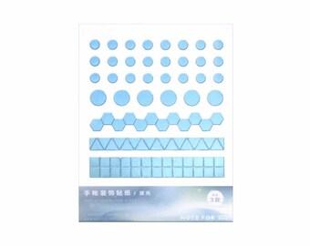 Geometric Glitter Mini Stickers - 3 Color Set