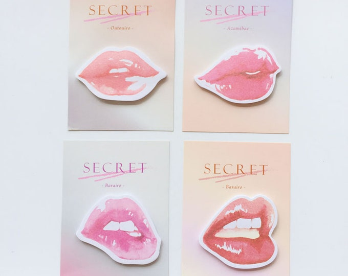 Secret Kiss Sticky Notes