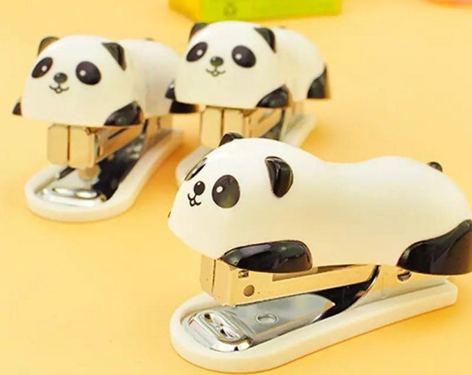 Panda Bear Mini Stapler Set