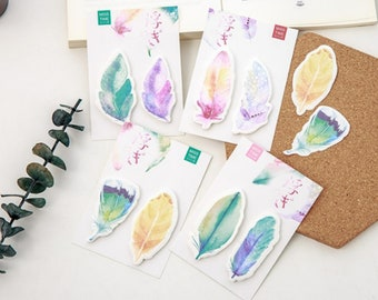 2pc Feather Sticky Note Pads