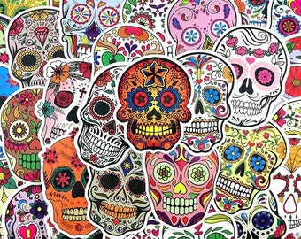 Sugar Skulls Sticker Set - Calaveras Stickers
