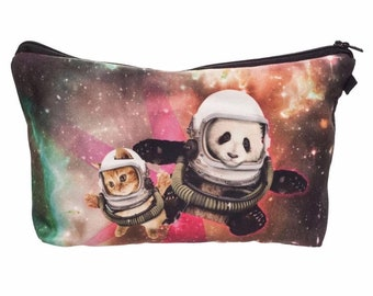 Space Boyz Pencil Case - Makeup Case - Small Clutch or Pouch - Travel Bag
