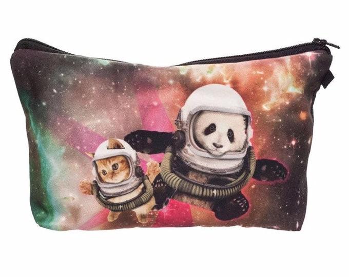 Space Boyz Pencil Case - Makeup Case - Small Clutch or Pouch - Travel Bag