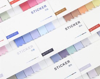 Chevron Page Markers Booklet - Sticky Note Tabs in Gradient and Pastel Colors