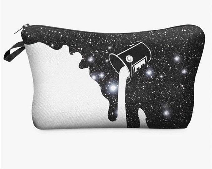 Painted Galaxy Pencil Case / Makeup Bag
