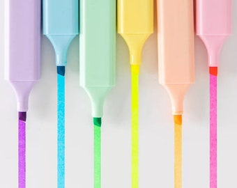 Bold & Bright Chisel Tip Highlighters - Choose Your Color