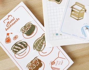 Foodie Metal Bookmarks - 4pc Paper Clip Set