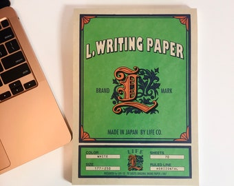 Life Co. Letter Pad - Green Cover - 250x177 mm / B5 / 7x10 in - Made in Japan