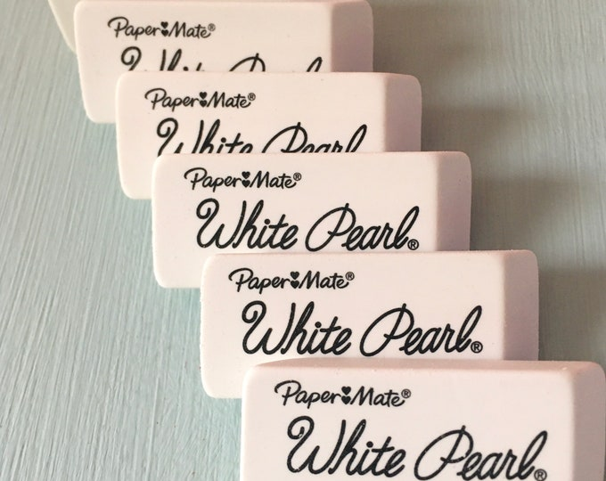 Paper Mate White Pearl Eraser - Large - 6 x 2.5 x 1 cm