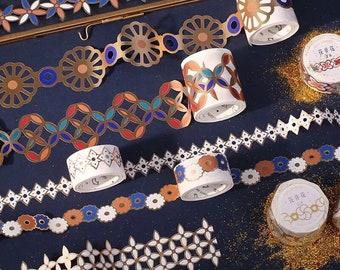 Moroccan Mosaic Washi Tape - Die Cut Metallic Paper Tape