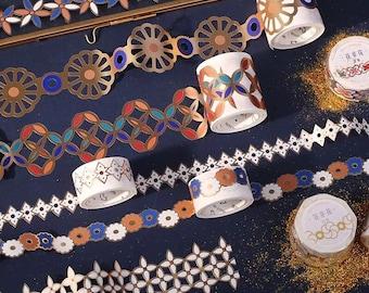 Arabesque Washi Tape - Die Cut Metallic Paper Tape