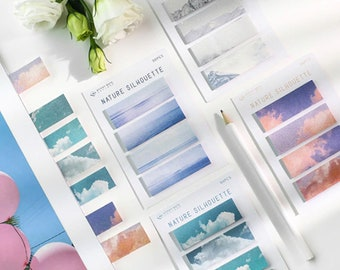 Nature Silhouette 4pc Sticky Note Tab Set