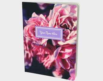 Custom Roses Journal - Soft Cover Writing Diary or Notebook - Choose Your Size & Paper Type - Add Your Name and Personalized Inner Page