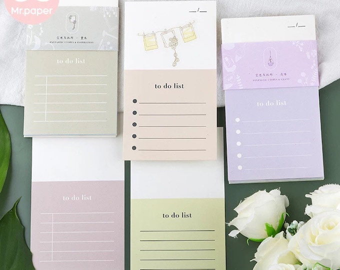 Naturally Sweet To-Do Notecards with Stickers