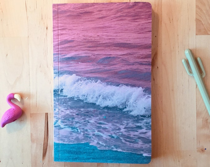 Dream Beach Journal - Premium Matte Softcover Notebook - Custom Paper Type - Small or Large