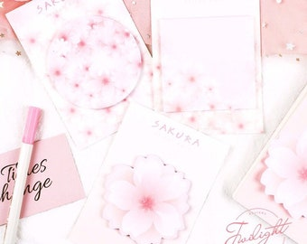 Sakura Flower Sticky Notes