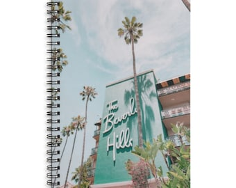 Beverly Hills Lined Spiral Notebook - Journal - Diary