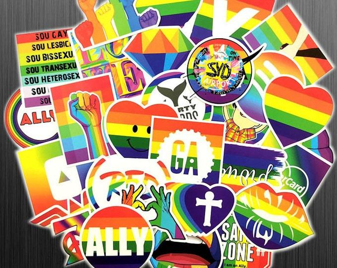 Pride Flag Sticker Pack - Rainbow Flag - LGBTQ+ Stickers - Gay Pride Sticker Set - Matte Finish