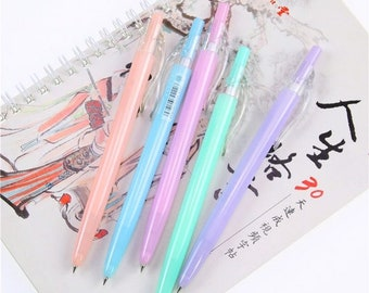 Neon Jelly Ballpoint Pens - Pastel Color Writing Pens - Blue Ink - 0.7mm - 1pc or Set of 5
