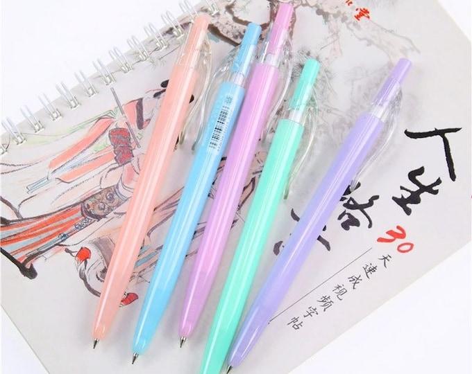 Neon Jelly Ballpoint Pens - Pastel Macaron Writing Pens - Blue Ink