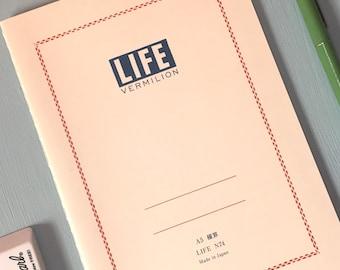Life Vermilion Notebook (Various Sizes)